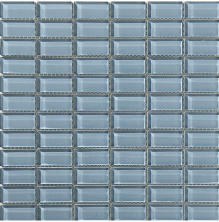 T159 gloss 23x48mm, Ark 0,09m2 Glas blank tjocklek 8mm